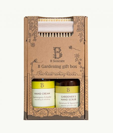 Gardening Skincare Gift Box. Contains Gardeners hand scrub with its minty freshness